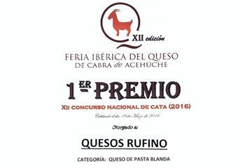 1º Premio Feria Ibérica del Queso de Cabra de Acehúche